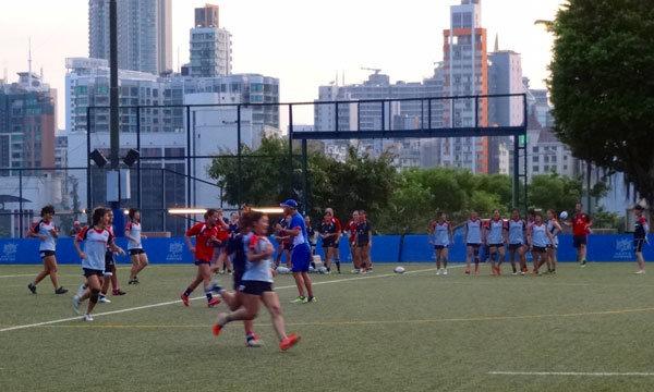 香港チームとの合同トレーニング