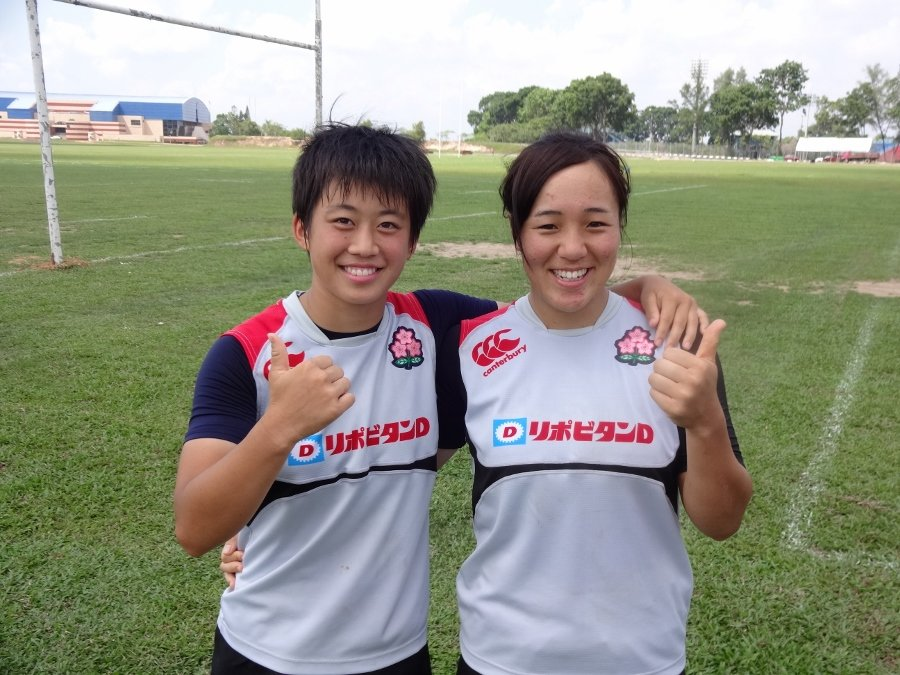 清水選手(左)と櫻井選手(右)