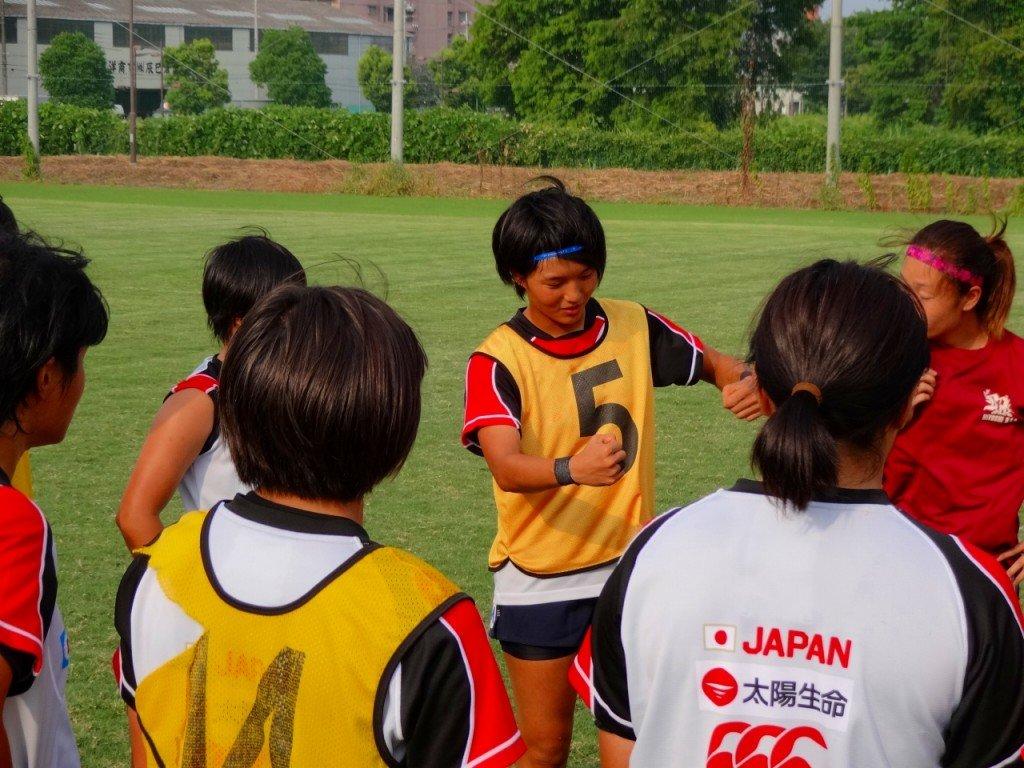 福島キャプテンを中心にチームの動きを確認