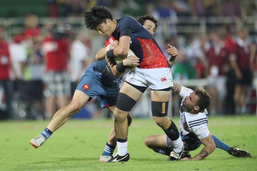 フランスには0ー35で完敗。5試合中4試合で先発した韓。アタックでは通用する部分も多かった photo by Kenji Demura