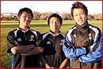 HB団の紹介です。左から古賀、花崎、川本です