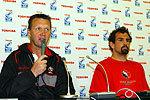 カナダ代表のリック・スギット ヘッドコーチ(左)、マーク・ローソン キャプテン