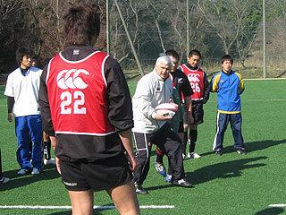 エリサルド日本代表ヘッドコーチの指導
