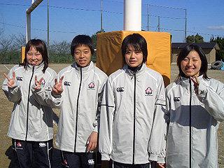 左から谷之口選手、高橋選手、横山選手、丸山選手