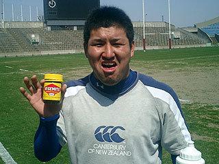 合宿のMVP、築城選手(福岡大学)