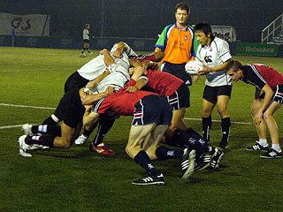香港代表チームと練習試合
