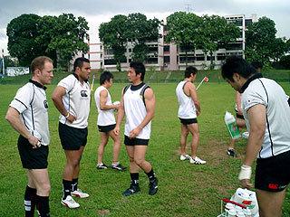 シンガポールでの練習開始