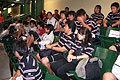 香港対韓国を観戦する選手たち