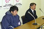 藤田ヘッドコーチ(右)、日和佐キャプテン