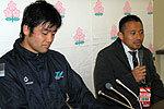 野村プレイングマネージャー(右)、桑江キャプテン