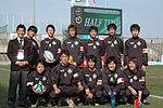 1月28日の全国クラブ大会、そしてマイクロソフトカップでボールボーイを務めてくれた神奈川・柏陽高校ラグビー部の皆さん。ありがとうございました