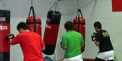 ボクシングトレーニングの様子