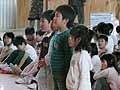 児童代表から歓迎の挨拶