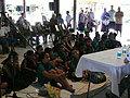 記者会見にはサモアの未来を担う多くの子供たちが招待された
