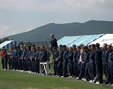 開会式後には仏高校選抜の紹介