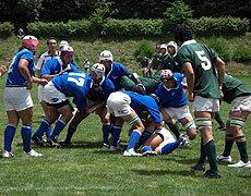 サニアCグランド初戦 U17東北(ブルー)vs近畿(ダークグリーン)