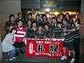 香港ではおなじみ「札幌」の前で記念撮影