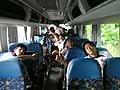 試合後のバスの中。みんな元気です