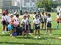 今日は香港日本人学校のサッカークラブの子供たちが応援に駆けつけてくれました