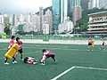 試合前の女子7人制日本代表