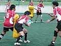 試合直前の練習