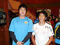 サントリーで活躍する二人。成田選手と、韓国代表・李選手