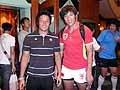 こちらは三菱重工で活躍する二人。山口選手と、中国代表・賀選手