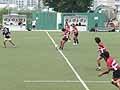 練習の最後は7対7の試合形式で行われた