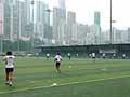試合会場のHong Kong Football Clubグラウンド。2006年には15人制のアジア予選も行われた