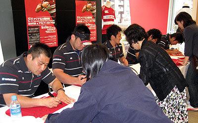 日本代表サイン会