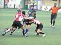 香港でのワールドカップセブンズ2009アジア地区予選。写真は対カザフスタン代表