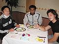徐選手(左)、オツコロ選手(中)、山田選手(右)