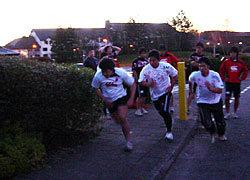 本日のエクストラトレーニングは二人組での一周走、勝てば次のトレーニングへ