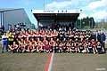 試合前には両チーム揃っての記念撮影も行われた