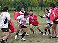 サポートプレーヤーはボールキャリアーに最短距離でサポートする