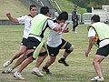 力強い突破を見せる大田尾選手