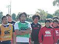 カーワンHCの話を聞く選手たち(2)