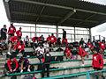 練習前の選手たち。今日は気温が低く寒い一日でした