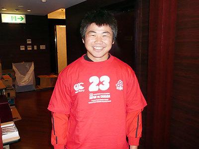 日本代表スコッド 田中史朗選手
