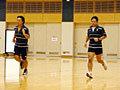 岩渕コーチと村田監督もリカバリーをして体を労わります