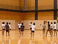 コミュニケーションを図りながら、ボールを使って、軽く練習です
