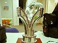スリランカセブンズ優勝トロフィー。周りについている石は本物です