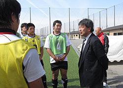 全国高体連副部長・天野先生も激励に来て下さいました