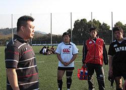 薫田氏がスポットコーチで来てくださいました