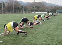 午前の練習のしめーフィットネストレーニング