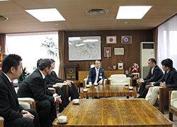 中山市長を表敬訪問