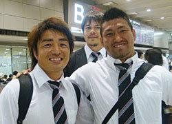 左から入江キャプテン・飯島選手・築城選手