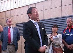 上野団長からの挨拶