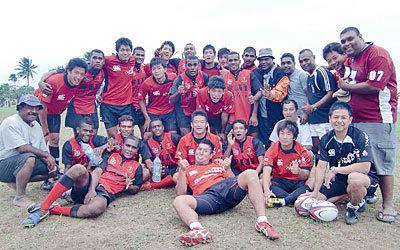 地元フィジアンチームと交流戦