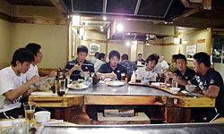 大会後は日本食レストランへ